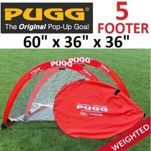 "NEW PUGG WEIGHTED GOAL SET 200413797 ULTRA Q5 POP UP PAIR OF NETS  ONE BAG BAG 60"" x 36"" x 36"""
