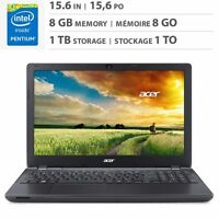 Excellent laptop Acer E-15 , 8G RAM, 1 T hard disk, perfect