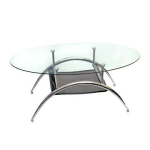 Glass Coffee Table $60  and Round End Table $20