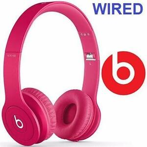 NEW OB BEATS SOLO HD HEADPHONES DRENCHED IN PINK - ON-EAR HEADPHONES  AUDOP EARPHONES 81986671