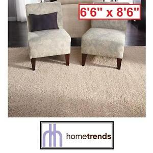 """NEW HOMETRENDS SHAG IN A BAG RUG 6'6"""" x 8'6"""" IVORY OVERSIZED SHAGS AREA RUGS FLOORING DECOR CARPET CARPETS ACCENT"""