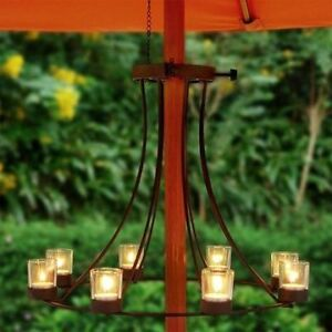 ** NEW Outdoor Decorative Patio Umbrella Candle Chandelier