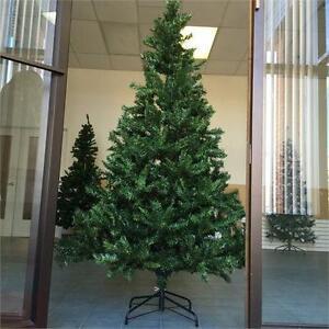 NEW, 7 FeeT Artificial Hinged Christmas Tree & a Metal Base-PRE13K70907