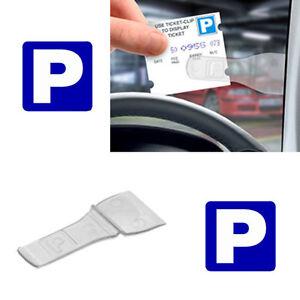 New Car Vehicle Windscreen Park Parking Ticket Clip Work Pass Holder Gadget