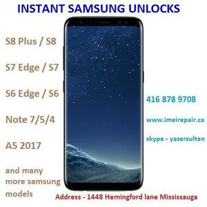 Unlock Samsung Note 8 S8 Plus S8 S7 S7 Edge, S6 Edge, S5, Note 5, Edge plus HTC M9 M8, LG G5 G4 G3, HUWAIE