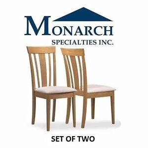 NEW MONARCH EMMA DINING CHAIRS   Monarch Specialities Fabric Seat Emma Dining Chairs Set of 2 FURNITURE  84914262