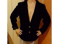 Ladies black velvet jacket