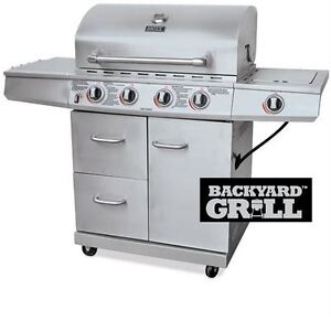 Backyard Grill Stainless Steel 4 Burner Gas Grill
