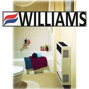 NEW* WILLIAMS 14,000BTU FURNACE DIRECT VENT NATURAL GAS HEATER W/ THERMOSTAT - WALL MOUNT 79708583