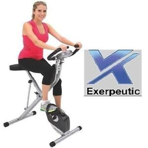 NEW* EXERPEUTIC UPRIGHT BIKE EXERCISE EQUIPMENT MAGNETIC FOLDING BICYCLE CYCLE CYCLING WORKOUT FITNESS 108036253