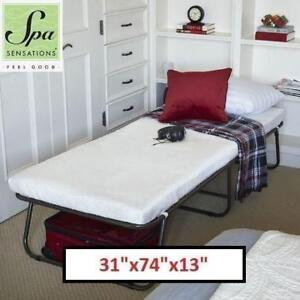 """OB SPA SENSATIONS GUEST BED WCA-GB01 188597452 STEEL FRAME WITH MATTRESS 31""""x74""""x13"""" OPEN BOX"""
