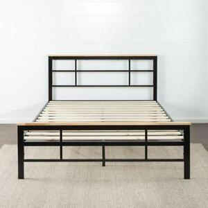 NEW Zinus Urban Metal & Wood Platform Bed. Twin Size