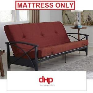 "NEW DHP 6"" RUBY RED FUTON MATTRESS DOREL HOME PRODUCTS - RUBY RED - MATTRESS ONLY 110689684"