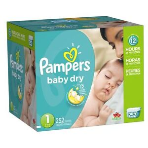 Couches bébé Taille 1 Pampers Baby dry