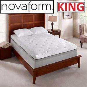 "NEW NOVAFORM 14"" GEL MEMORY FOAM MATTRESS   KING - HOME FURNITURE DECOR BEDROOM   90188268"