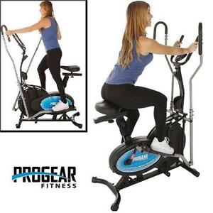 USED PROGEAR 400LS 2 N 1 ELLIPTICAL   Air Elliptical and Exercise Bike with Heart Pulse Sensors - FITNESS EXERCISE