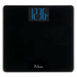 Ultra slim black weighing scale