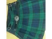 Highland kilt and Blouson style shirt