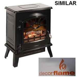 "NEW DECORFLAME 17"" ELECTRIC STOVE 17"" ELECTRIC STOVE HEATER - GLOSS BLACK - 1500W - 4200 BTU 95477794"