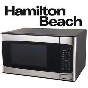 NEW HAMILTON BEACH SS MICROWAVE 1.1 CU FT - STAINLESS STEEL - APPLIANCES 107546070