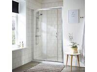 NEW IN BOX Victorian Plumbing 'Ella' Sliding Shower Door - 1200mm