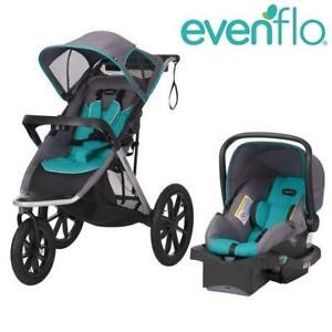 NEW EVENFLO JOGGER TRAVEL SYSTEM 46622149C 232200789 VICTORY PLUS BABY TODDLER STROLLER CAR SEAT