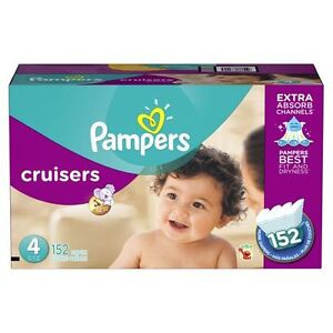 Pampers cruisers size 4 diapers 152 pieces