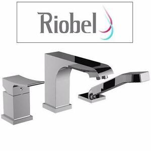 NEW RIOBEL 3PC DECK MOUNT FAUCET   TUB FILLER W/ HAND SHOWER - BATHROOM BATHTUB SHOWER  84155697