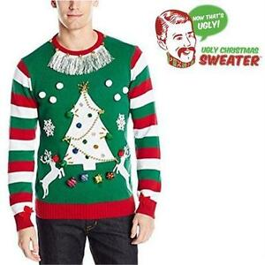 NEW UGLY XMAS SWEATER KIT MEN'S 2XL GREEN DYI CHRISTMAS SWEATER - GREEN CLOTHING 80171319