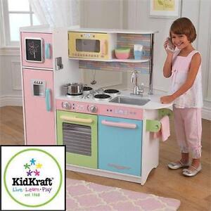 NEW KIDKRAFT UPTOWN KITCHEN PLAYSET PASTEL - PLAY SET - KITCHEN KIDS TOY Pretend Play  Large Playsets