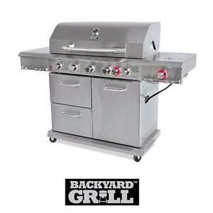NEW* BACKYARD GRILL 6 BURNER GRILL SS - STAINLESS STEEL - PROPANE GAS - BBQ BARBECUE COOKING GRILLING OUTDOOR  82070788