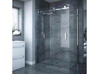 Nova - Frameless 900 x 1200mm Sliding Door & Pane Pick UP Only