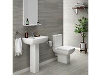 Milan 4-piece bathroom set