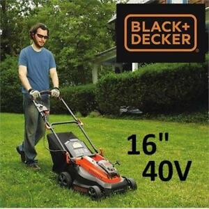 NEW BLACK  DECKER 16 LAWN MOWER CM1640 250695796 PATIO LAWN GARDEN 40V CORDLESS LAWNMOWER