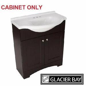 """NEW GB DEL MAR 30"""" VANITY CABINET GLACIER BAY  ESPRESSO COLOUR  CABINET ONLY  BATH BATHROOM FURNITURE CABINETS  87394885"""