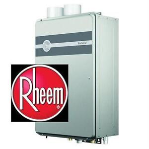NEW RHEEM ECOSENSE WATER HEATER NG 9.5 GPM - NATURAL GAS - TANKLESS - HIGH EFFICIENCY 77406013