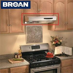 """NEW* NUTONE ALLURE SS RANGE HOOD STAINLESS STEEL - 42"""" - KITCHEN - COOKING - UNDER CABINET HOME APPLIANCES 75072337"""