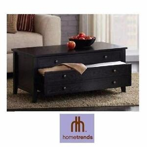 NEW* HOMETRENDS COFFEE TABLE WITH TWO DRAWERS HOME FURNITURE DECOR LIVING ROOM ACCENT TABLES 92059800