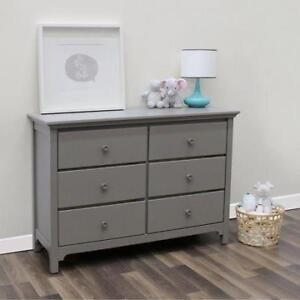 *new* Ti Amo 6 Drawer Double Dresser - GREY