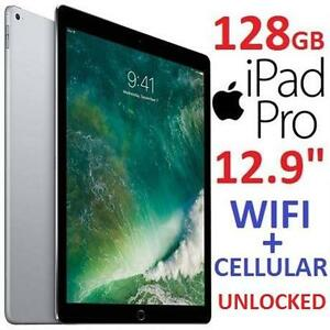 "NEW OB APPLE IPAD PRO 12.9"" 128GB - 126448617 - SPACE GREY WIFI CELLULAR UNLOCKED TABLET NEW OPEN BOX"