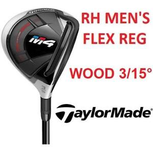 NEW TAYLORMADE M4 FAIRWAY WOOD CLUB B1245207 201859824 MEN'S RIGHT HAND 3 WOOD GOLF REG FLEX