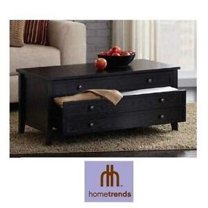 NEW* HOMETRENDS COFFEE TABLE COFFEE TABLE WITH TWO DRAWERS 104444076