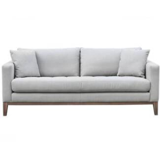 2 x Freedom Marley 3 Seat Sofas in Loft Cloud Fabric New Lambton Heights Newcastle Area Preview