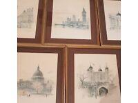 Framed Art Of London Landmarks