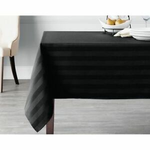 NEW: 60in x 102 in Microfiber Stripe Tablecloth - $15 (Cash, NO