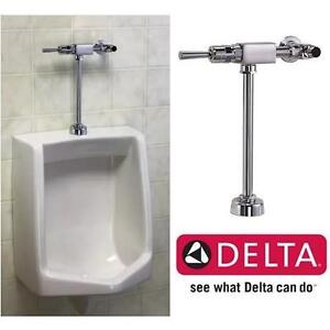 "NEW DELTA EXPOSED FLUSH VALVE CHROME - Urinal Toilet Flush Valves  3/4"" SPUD WASHROOM BATHROOM 106508285"