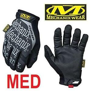 NEW MECHANIX GRIP GLOVES MEN'S MED - 110013878 - ORIGINAL GRIP GLOVE - BLACK - 1 PAIR (LEFT  RIGHT GLOVE)
