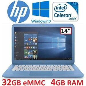 "OB HP STREAM NOTEBOOK 14"" 14-AX010WM 99694849 N3060 4GB RAM WIN10 32GB EMMC INTEL PC LAPTOP COMPUTER OPEN BOX"