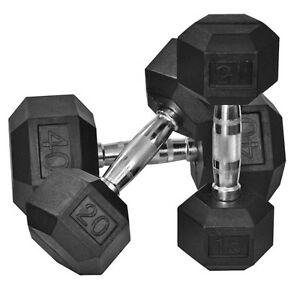 Northern Lights Rubber Hex Dumbbell - Lowest Price Guarenteed