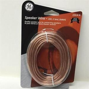 GE Polarized Speaker Wire - Model 22618 (25 ft )